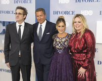 HBO Red Carpet Premiere. Executive producer/showrunner Paul Simms, HBO chief Richard Plepler, actress/executive producer Sarah Jessica Parker, and producer Stock Images
