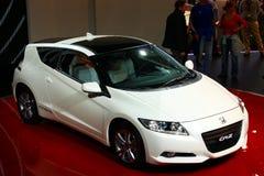 Híbrido-Cupé de Honda CR-Z en la demostración de motor 2010, Ginebra Imágenes de archivo libres de regalías