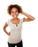 Hübsche Afroamerikaner-Frau Lizenzfreies Stockbild