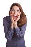 Hübsche Frau in einem Zustand der Freude Lizenzfreie Stockfotografie