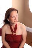 Hübsche Frau in ihren Vierzigern Stockfotografie