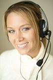 Hübscher MädchenKundendienstrepräsentant Lizenzfreies Stockfoto