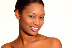 Hübsches Frauenlächeln Stockfoto