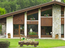 Hübsches verziertes Haus, Frankreich. Stockfotos