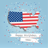 HBTY USA. 4 july celebration greeting card Stock Images