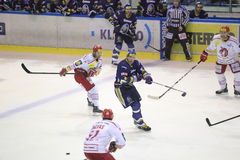 HC Kladno - HC Ocelari Trinec Royalty Free Stock Photo