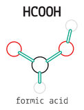 HCOOH formic acid molecule Royalty Free Stock Photography