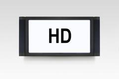 hd查出的电视白色 库存图片
