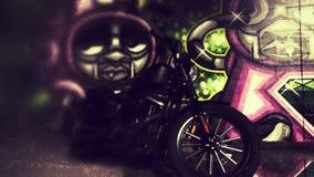 HD883 γκράφιτι Στοκ Φωτογραφίες