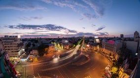 Hd отснятого видеоматериала промежутка времени Бухареста полное акции видеоматериалы