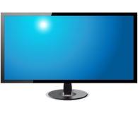 Hd- экрана ТВ изолированное на белой предпосылке Иллюстрация штока