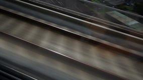 HD -高速移动铁轨接近的看法  股票录像