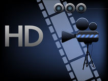 Кино HD иллюстрация вектора