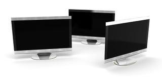 三个HD电视 库存图片