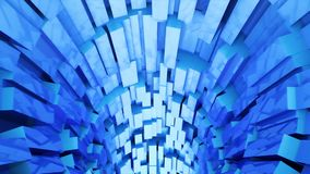 Abstract background with animation of flight in sci-fi tunnel. Looped animation.
