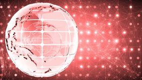 Abstract background with the rotation of the glass of the globe. Loopable. Red. stock video