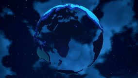 Abstract Planet Earth on the clouds background. Looping. HD Abstract Planet Earth on the clouds background. Looping stock video