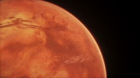 Animated Planet Mars. High quality CG animation on stars background. stock illustration