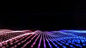HD-Animation von den Partikeln, die eine Landschaft bilden vektor abbildung