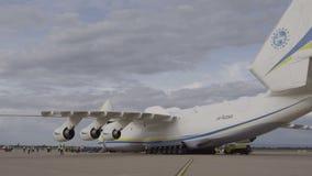 HD Antonov 225 Mriya airplane twin tail stock video