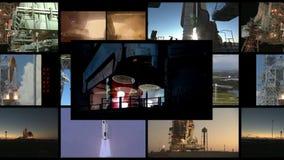 HD-begrepp av att resa in i utrymmet - några beståndsdelar möblerade vid NASA stock video