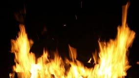 HD 1080, bristning av flammor arkivfilmer