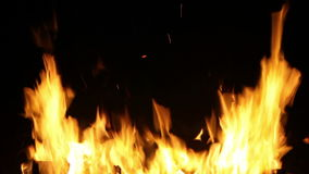HD 1080,Burst of flames. With black background stock footage