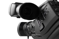 HD-cam, Camcorder. Closer look of tapeless  High definition camcoreder (rear view Royalty Free Stock Photography