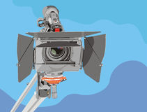 Hd-camcorder on crane Stock Photography