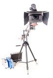 Hd camcorder on crane Stock Photos