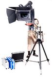Hd camcorder on crane Royalty Free Stock Photo