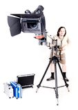 Hd camcorder on crane Royalty Free Stock Image