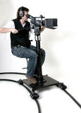 HD-camcorder On The Dolly Royalty Free Stock Image