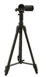 HD Camcorder On Tripod. Over White Stock Photography