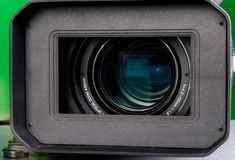 Hd camera lens. The close-up lens of high definition video camera Stock Photo