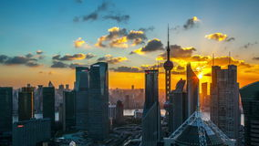 HD: China Shanghai, day to night, time lapse. Stock Photography