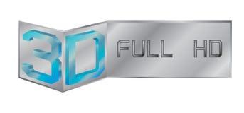 Hd completo di logo di vettore 3d illustrazione di stock