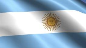 Hd completo vincado da bandeira do algodão de Argentina ilustração stock
