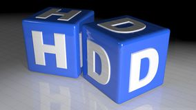 HD cubes Stock Photo