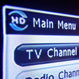 HD Digital Fernsehen-Menü Lizenzfreie Stockbilder