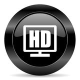 Hd display icon Royalty Free Stock Photography