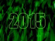 Hd 2015 do verde Fotografia de Stock Royalty Free