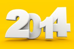 2014 HD. Figures in different size and with a new 2014 Stock Photography