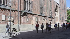 HD Frauenkirche, église de notre Madame dans Marienplatz banque de vidéos