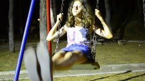 HD Girl on the Swing LOOP. stock video footage