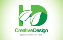 HD Green Leaf Letter Design Logo. Eco Bio Leaf Letter Icon Illus Stock Images