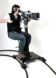 HD -hD-camcorder op de dolly Royalty-vrije Stock Afbeelding
