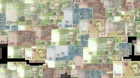 HD Heap of ukrainian hryvna. Heap of ukrainian hryvna, as moneys background, with alpha matte stock footage