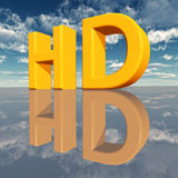 HD - High Definition. The abbreviation HD - High Definition Royalty Free Stock Photos