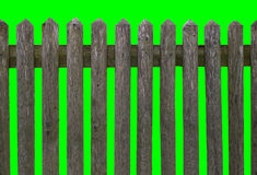 HD horizontal seamless weathered wooden fence Stock Photo